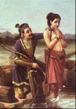 Tiempo después, Satyavati fue cortejada por el rey Santanu, padre de Bhishma