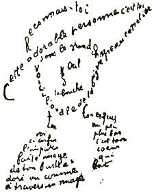 Un caligrama <a href=
