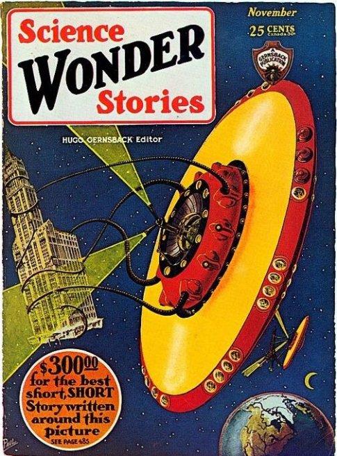 La revista Science Wonder Stories, una de las pioneras de la ciencia ficción estadounidense