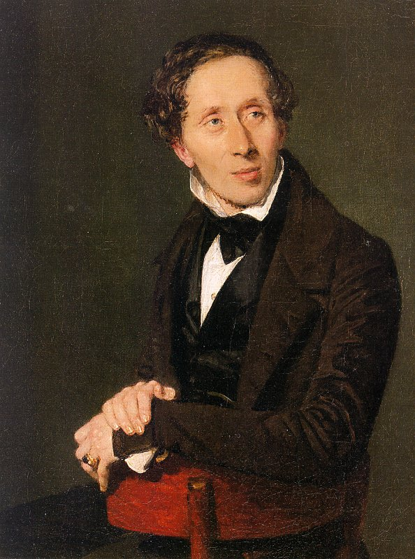 Hans Christian Andersen retratado por Constantin Hansen (1836).