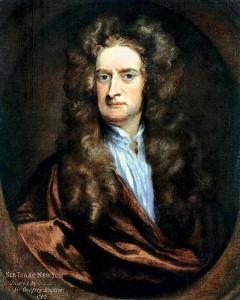Isaac Newton por Godfrey Kneller (1702)