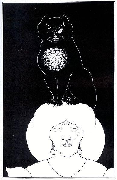 """Una ilustración de Aubrey Beardsley para """"El gato negro"""""""