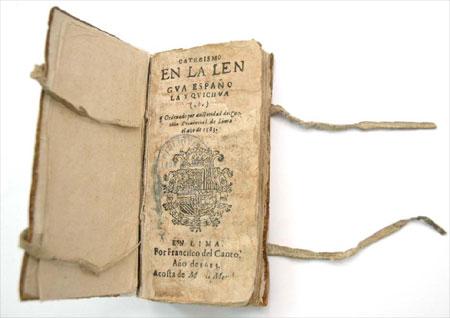 Incunable conservado en la Biblioteca Nacional del Perú