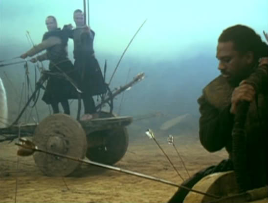 Karna y su rueda. Imagen de la película de Peter Brook