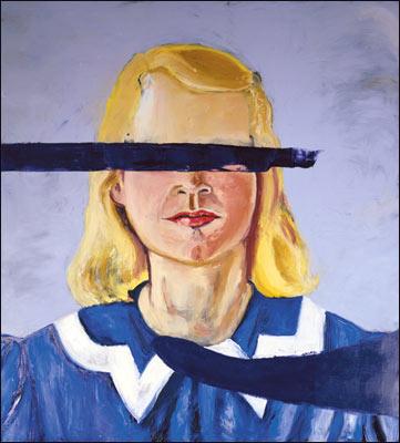 """Niña grande sin ojos"" de Julian Schnabel. Fuente: telegraph.co.uk"
