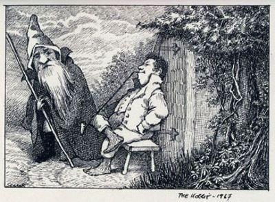 Una ilustración de Maurice Sendak para El hobbit de J. R. R. Tolkien