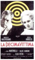 Cartel de La dcima vctima, con Marcello Mastroianni y Ursula Andress