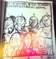 La Liga Mexicana (dibujo de Bernardo Fernández Bef)