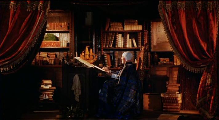 John Gielgud como Próspero en la película de Peter Greenaway